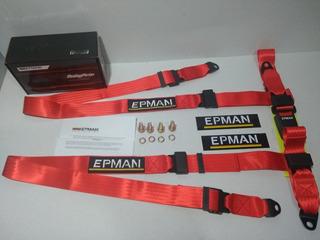 Cinturon De Seguridad Racing 4 Puntos Universal Epman Tuning