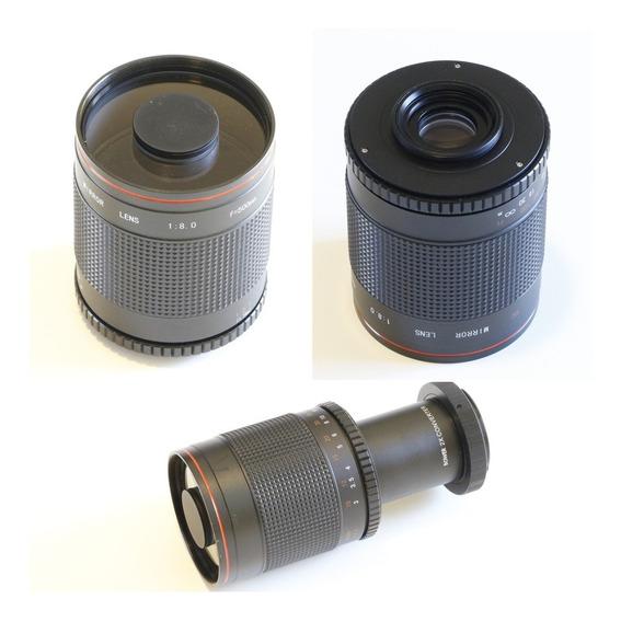 Lente Teleobjetiva Mirror Lens F/8 500mm