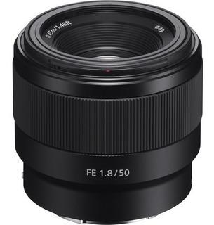 Lente Sony Sel Fe 50mm F/1.8 Sel50f18f