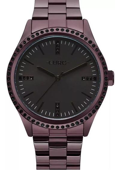 Relógio Euro Feminino Eu2035yns/4p Roxo Analógico