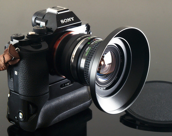 Lente Nova, 20mm Cosina Macro + Adaptador Novo Fuj-x