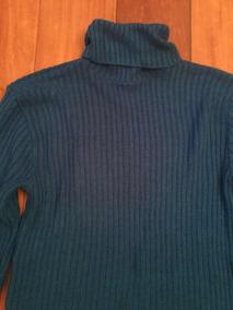 Blusa De Frio Suéter Longo Gola Alta Uruguaio Azul Bic Grand