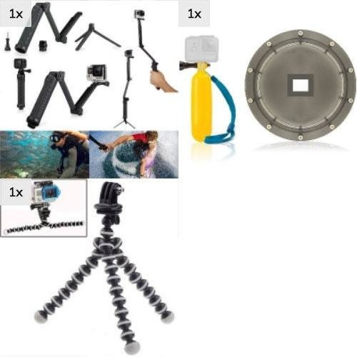 Kit Hero Black Mala Dome Tripé TriPod Flutuante Bastão 3 Way