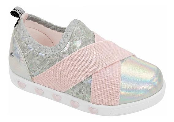 Pampili Tênis Infantil Sneaker Luz Prata 22 Ao 29 Verão 2020