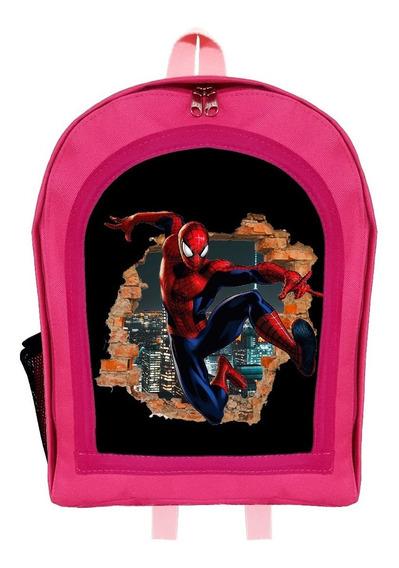 Mochila Infantil Jardín Spider Man Hombre Araña 2 Givan