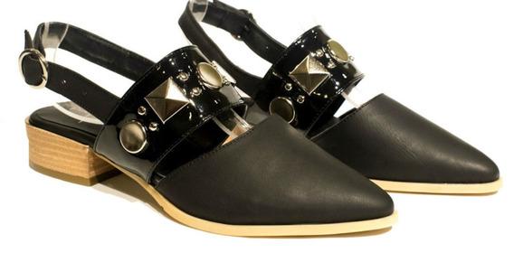 Zapato Mujer Mules Cuero Charol Prim- Verano 19 Envió Gratis