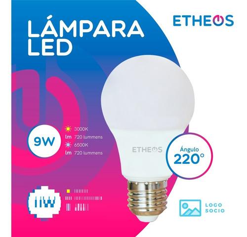 Lampara Foco Led 9w = 75w E27 Pack X 1 Unidad Etheos