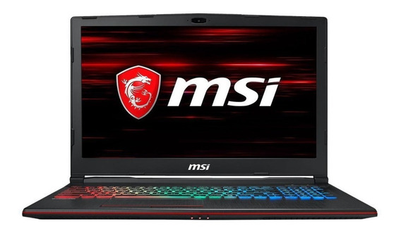 Notebook Gamer Msi Leopard I7-8750h 8gb 256gb Ssd Nvidia Gtx 1070 8gb Dedicada 15.6 Full Hd Antirreflexo Ips 120hz