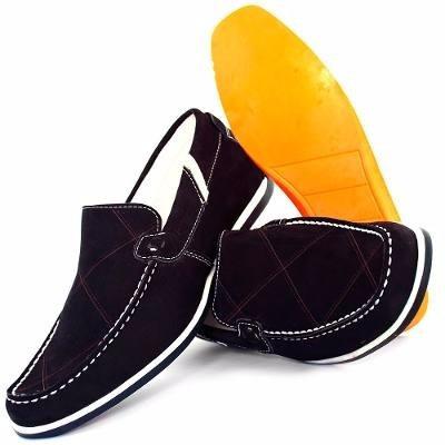 Sapato Sapatilha Masculina Em Couro Casual Confortável