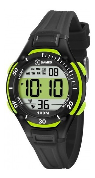 Relógio Xgames Xkppd017 Bxpx Unissex Preto Verde - Refinado