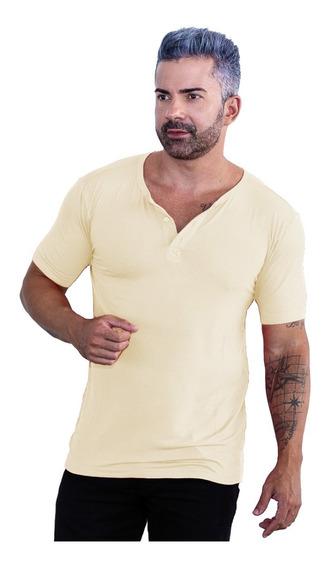 Camisa Masculina Gola Portuguesa Slim Atemporal Manga Curta