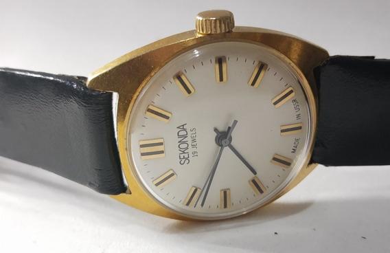 Relógio Sekonda 19rubis, Ussr . Raro, Masculino. Ref.552