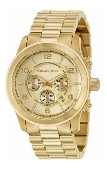 Relógio Michael Kors Mk8077 Oversized Unissex Dourado