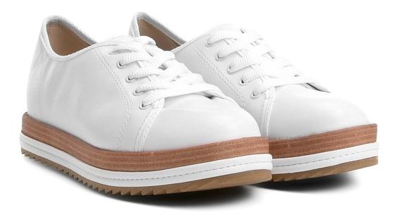 Tenis Feminino Casual Flat Form Cores Branco Cód 398