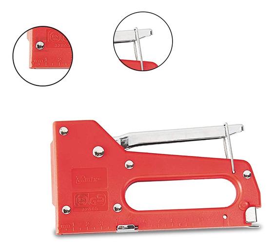 Grampeador Manual Tapeceiro Para Grampos De 4 A 8mm