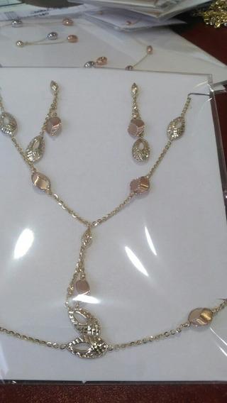 Collar Pulcera Y Aretes 14k