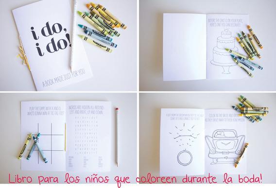 Libros De Juegos Para Niños Durante La Boda !