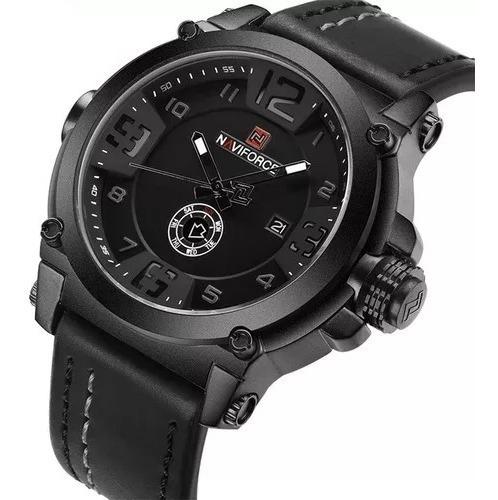 Relógio Masculino Militar Esportivo Pulseira Couro Naviforce