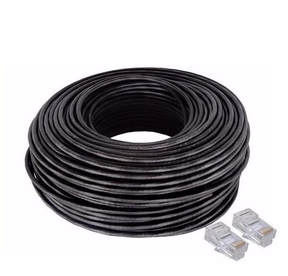 Cable De Red Armado Por 30 Mts Exterior Modem Router Camara