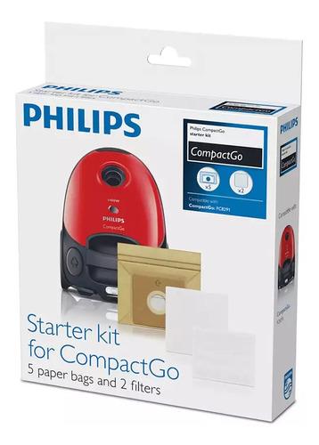 Imagen 1 de 5 de Repuesto Bolsa Fc8018 X5 + Filtros Aspiradora Philips Fc8291