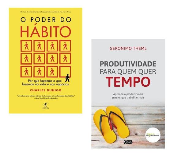 Kit Livros - O Poder Do Hábito + Produtividade Quer Tempo