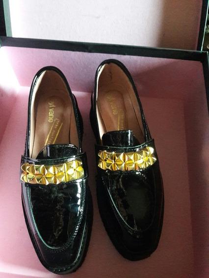 Sibyl Vane Zapato N.35 Cuero#nvo/prune/mishka/envio Gratis !