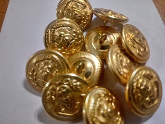 Boton Escudo Nacional Compuesto 50 Unid. En Dorado 22mm
