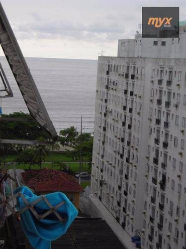 Kitnet Com 1 Dormitório À Venda, 35 M² Por R$ 195.000,00 - Embaré - Santos/sp - Kn0051