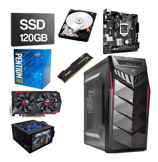 Pc Gamer Pentium G5400 3.70ghz 8gb Ddr4 Ssd 120gb Hd 1tb 2gb