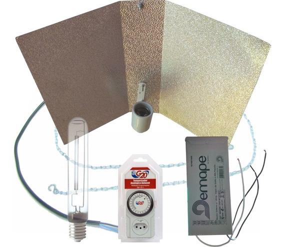 Kit Iluminação Indoor Flora - Home Demape 600w + Timer