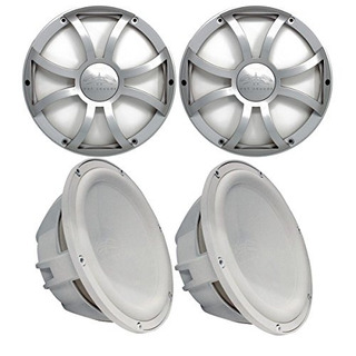 Two Wet Sounds Revo 10 Subwoofers Y Parrillas - Subwoofe Bla