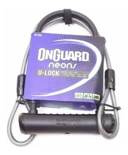 Cadeado Bike U-lock + Cabo Onguard 8154 Reforçado Chave Moto