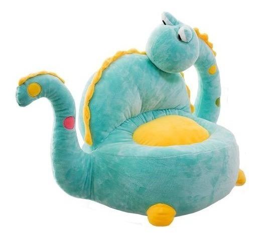 Puff Infantil Em Forma De Dinossauro - Pelúcia Para Crianças