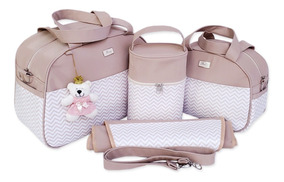 Kit Bolsa Bebê Maternidade Menino/menina Gestante 4 Pçs Luxo