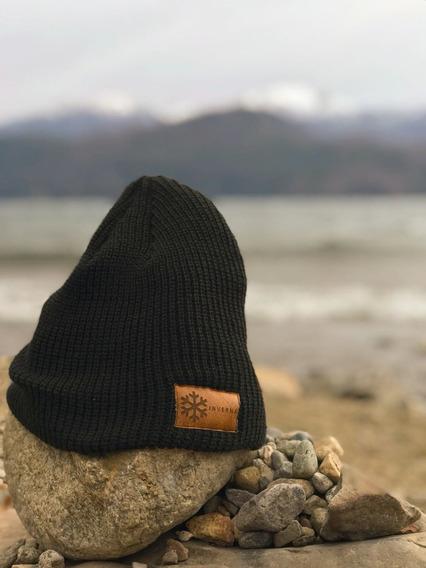 Gorro De Lana Negro Beanie Wool Black