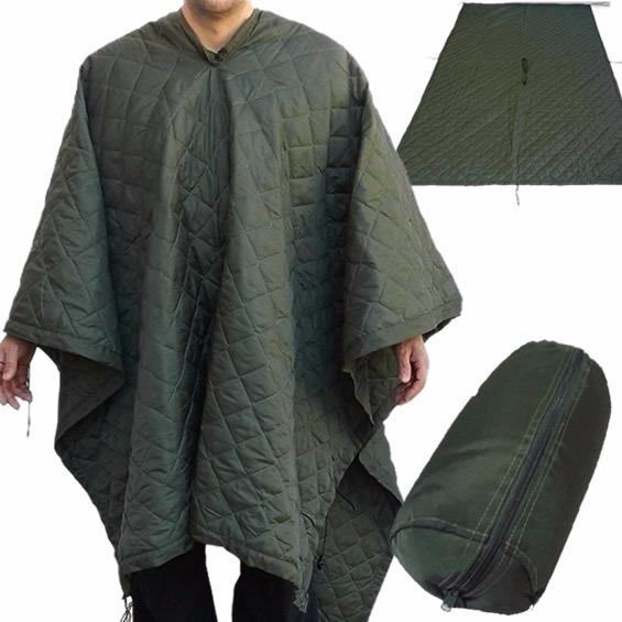 Manta Térmica Militar Exercito Cobertor Camping Poncho 2em1