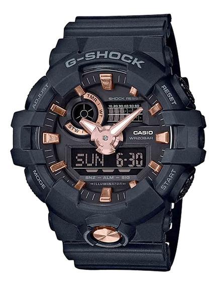 Relógio Casio Masculino Ga-710b-1a4dr Preto - Refinado