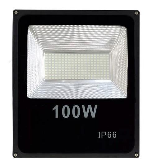 Refletor Led Smd 100w - Holofote Branco Frio Prova D