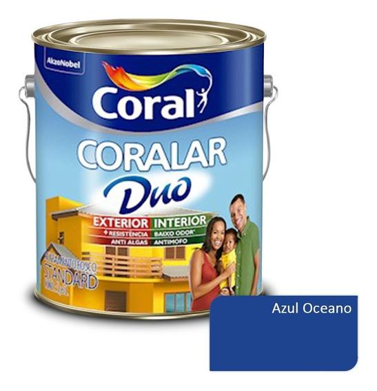 Tinta P/ Parede Externa Coralar Duo Coral - Azul Oceano 3,6l