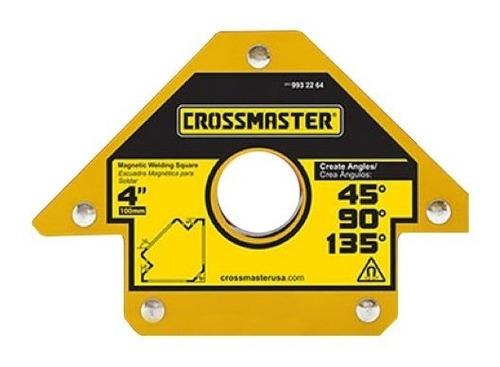 Escuadra Crossmaster Magnetica Soldar De 4 Pulgadas 22,7 Kg