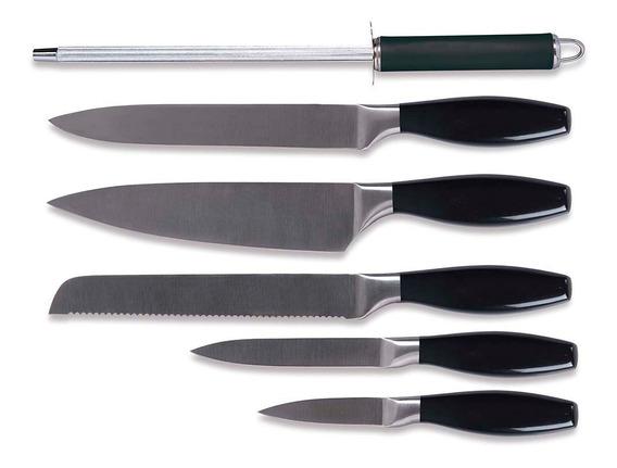 Jogo De Facas Para Cozinha Le Chef 6 Peças Mor Full