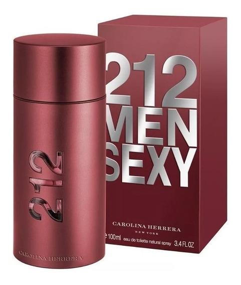 Perfume 212 Sexy Men Edt 100ml Carolina Herrera Original Lacrado