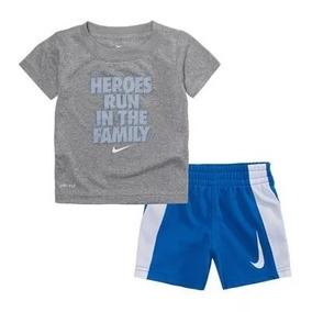 Nike Conjunto 2 Peças Camiseta Bermuda Esporte Dri Fit