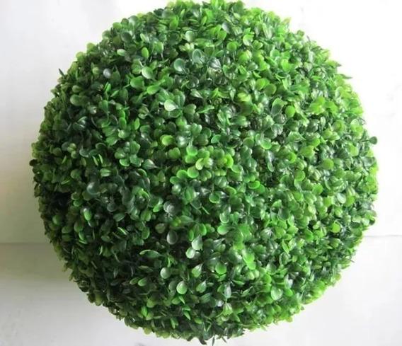 Buxinho Artificial Bola 23cm Topiária Decoração Grama Verde