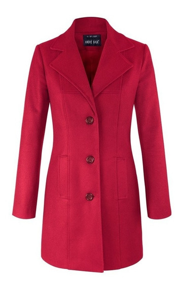 Abrigo Andre Badi Dama Mujer Rojo Modelo 0007