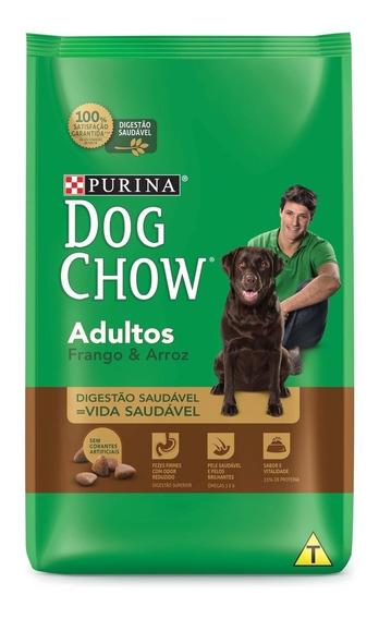 Ração Purina Dog Chow Adultos Frango Arroz 15 Kg