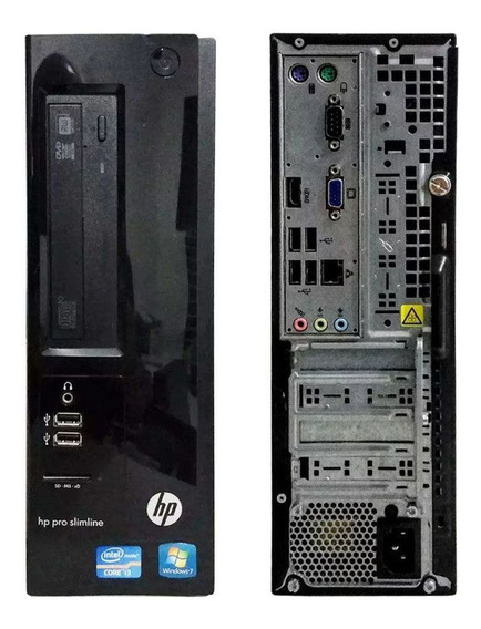 Pc Cpu Desktop Hp Slim Ddr3 Core I3 8gb Hd 320 Gravador Wifi