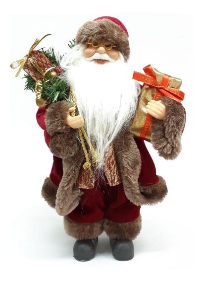 Papá Noel Bordeaux De Lujo 30 Cm #30668 - Sheshu Navidad