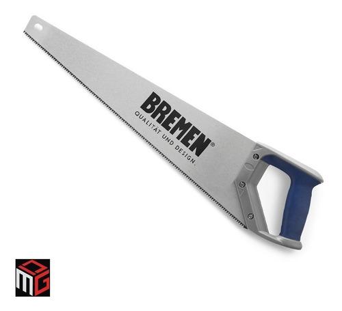 Imagen 1 de 6 de Serrucho Para Madera Carpintero Bremen 18 Doble Filo 450mm Cod. 3380 Dgm