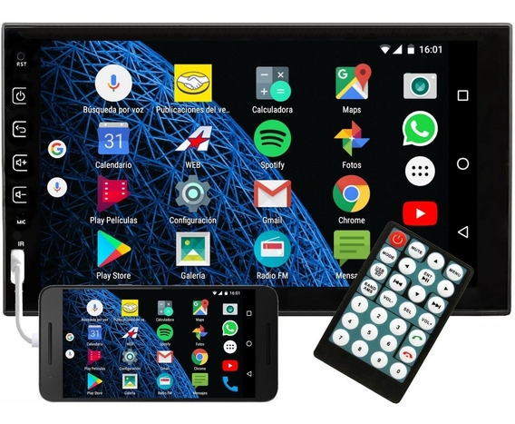 Stereo Pantalla Tactil Bluetooth 7 Pulgadas Android Mirror
